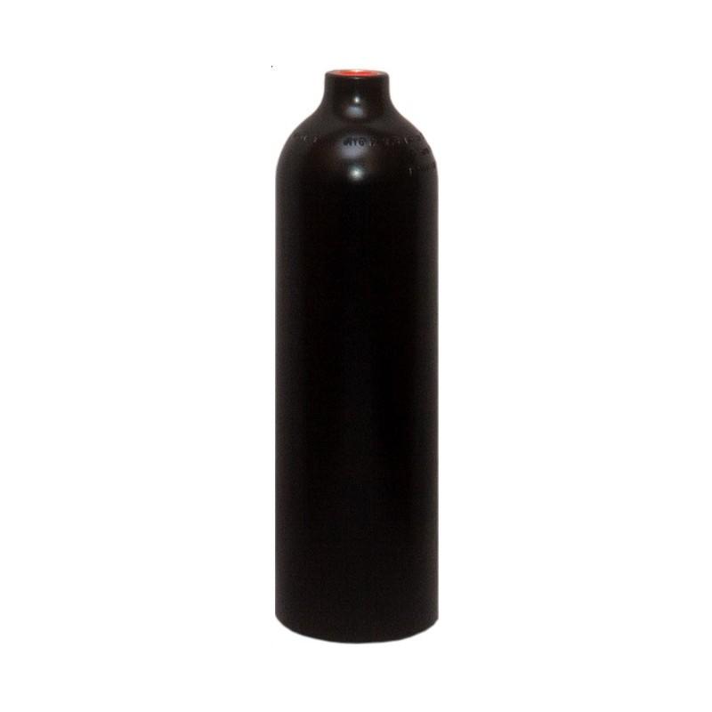 Bombola Alluminio 0,85 lt Nera Senza Rubinetto