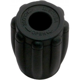Thermo Rubber Knob Black - Easy Grip