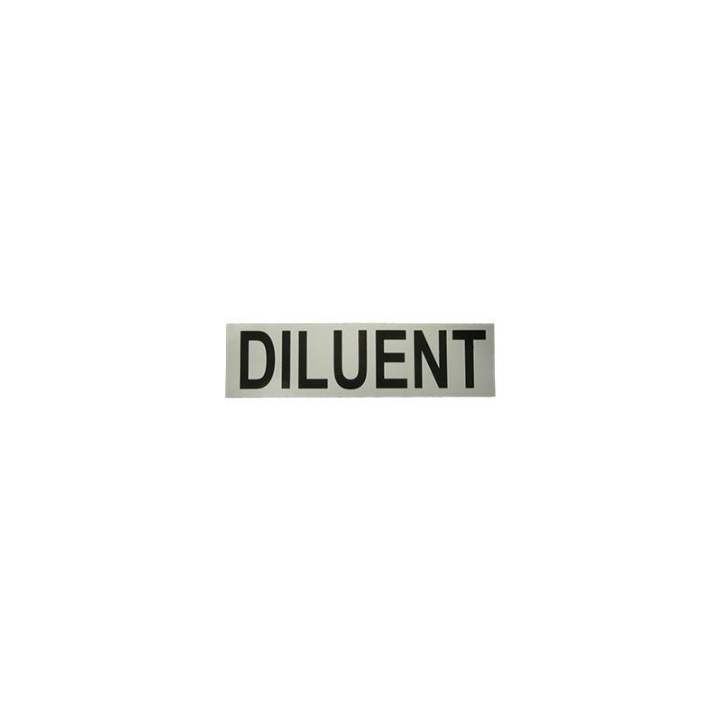 Sticker DILUENT (small 17x5 cm)