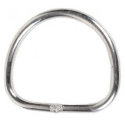 D RING STAINLESS STEEL STRAIGHT FOR BCD, BACKPLATES, WEBBINGS D-RING FOR JACKET