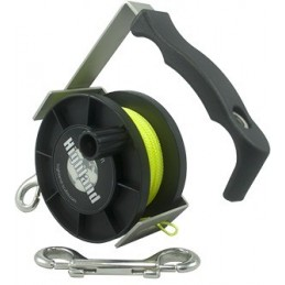 REEL Yellow Line ca 88 m w. SS Double Ender & Bolt Snap