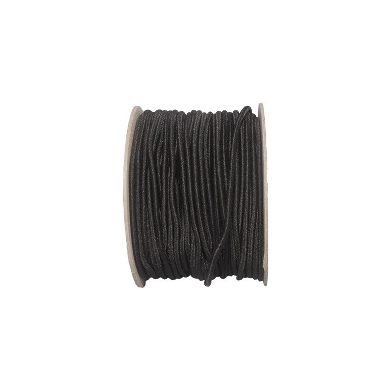 Bungee Cord, 3 mm, black, 1 m