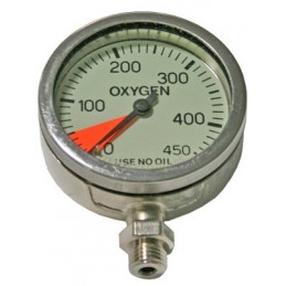 DIR GAUGE SPG OXYGEN 52 MM SCALE 0 - 450 BAR WITH SWIVEL