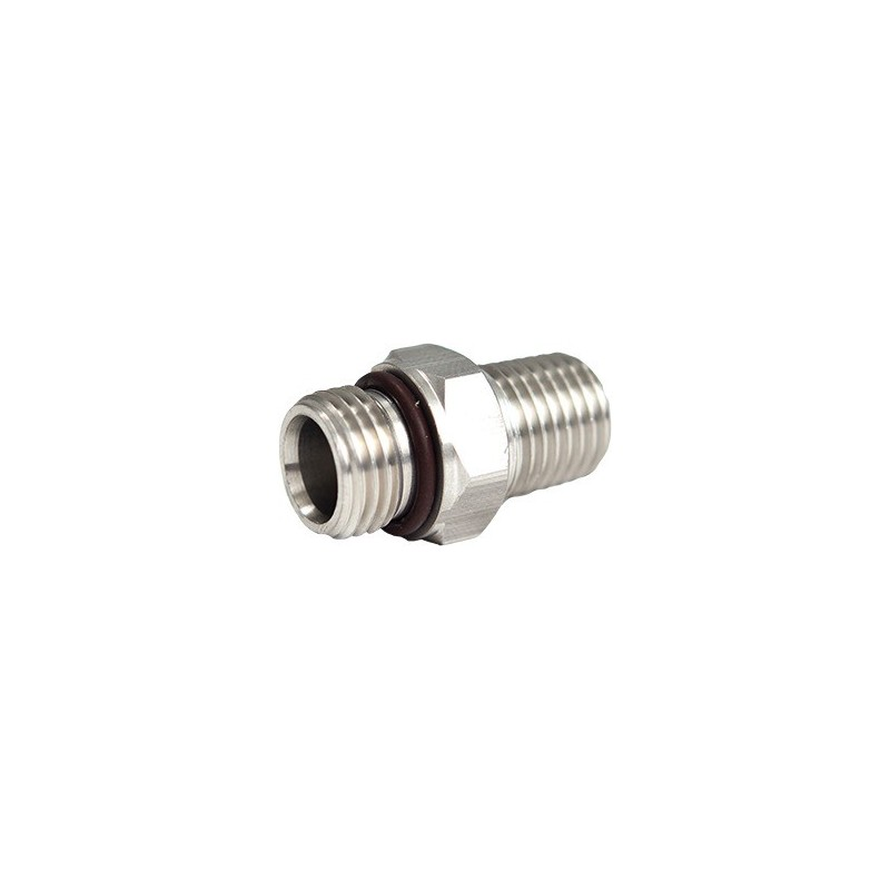 "SS Adapter 9/16-18 Male to 1/4"" Male NPT"""