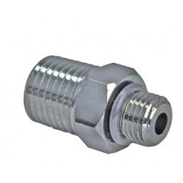 "Adapter Male 3/8 to Male 1/4"" NPT Black Chromed Brass"""