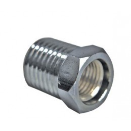 "Adapter Female 3/8 to Male 1/4"" NPT  Chromed Brass"""