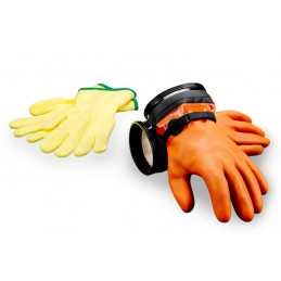 "Zip Dry Gloves ""Maximum Dexterity"" (Orange) & Liners"