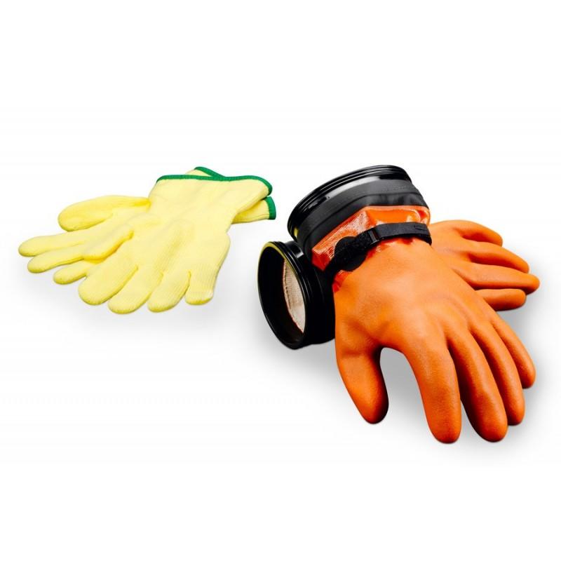 """Zip Dry Gloves """"Maximum Dexterity"""" (Orange) & Liners"""