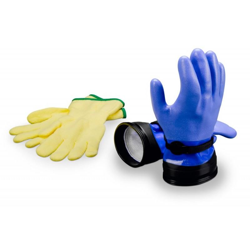 "Zip Dry Gloves ""Heavy-Duty"" (Blue) & Liners"