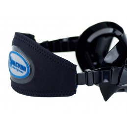 Mask strap cover with Halcyon Logo