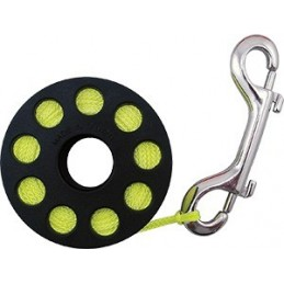 Finger Spool Yellow Line ca 18 m w. SS Double Ender