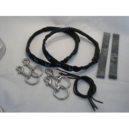 "SM Contour Rigging Kit (includes 2 tank bands with nylon cover and two 25mm (1"") bolt snaps)"