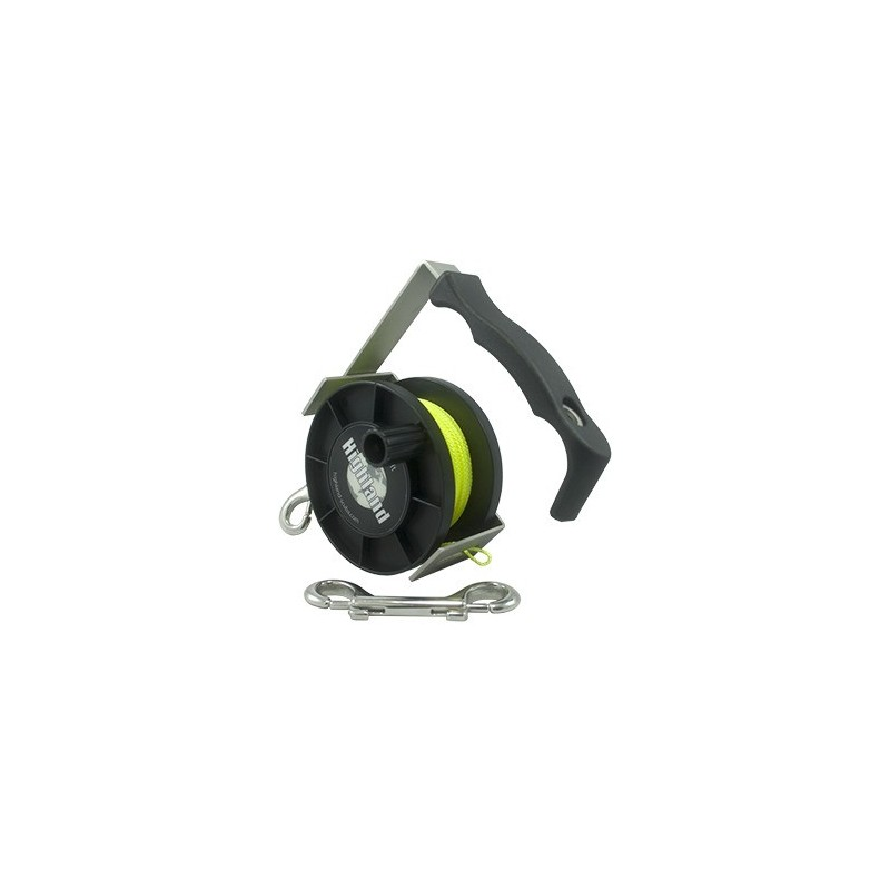 Reel Yellow Line ca 48 m w. SS Double Ender & Bolt Snap