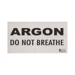 INERT GAS DO NOT BREATHE WARNING DECAL
