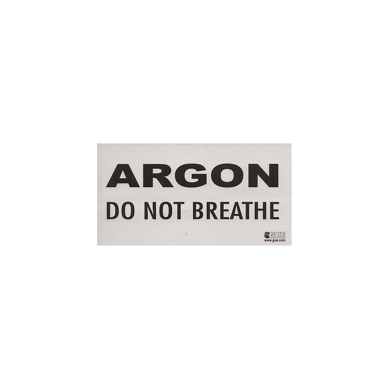 Inert Gas: DO NOT BREATHE warning decal