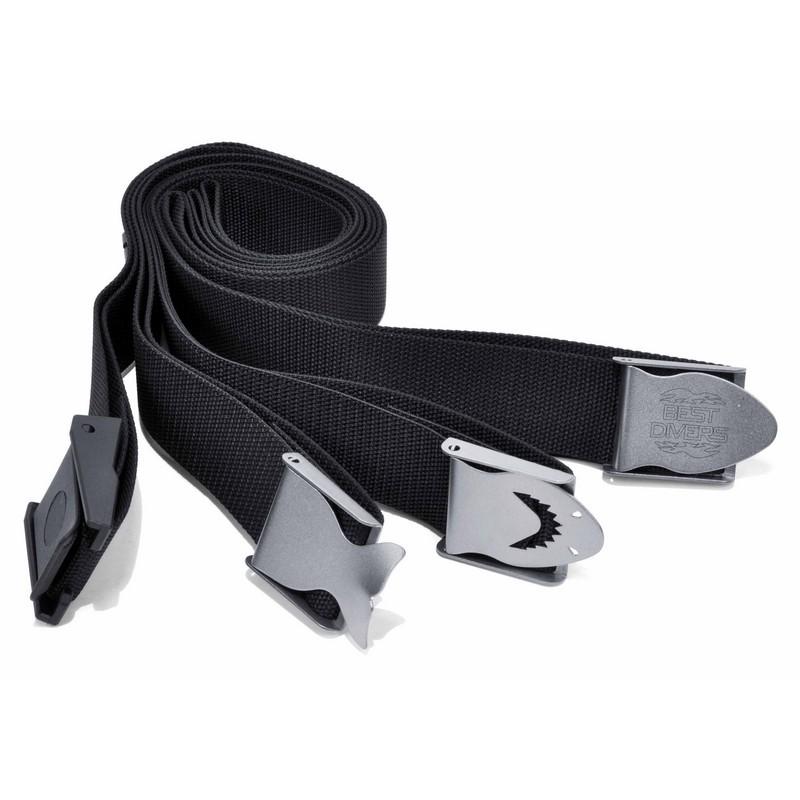 CINTURA ZAVORRA 50 MM INOX//NYLON BLACK WEBBING WEIGHT NYLON BUCKLE