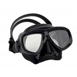 Dual lens mask with black frame & skirt