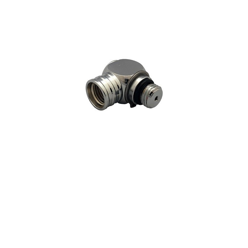Adapter 90 HP 1st Stage UNF 7/16 Male to UNF 7/16 Female Chromed Brass