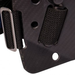 CF backplate with complete Cinch Quick-adjust Harness and Aluminum hardware