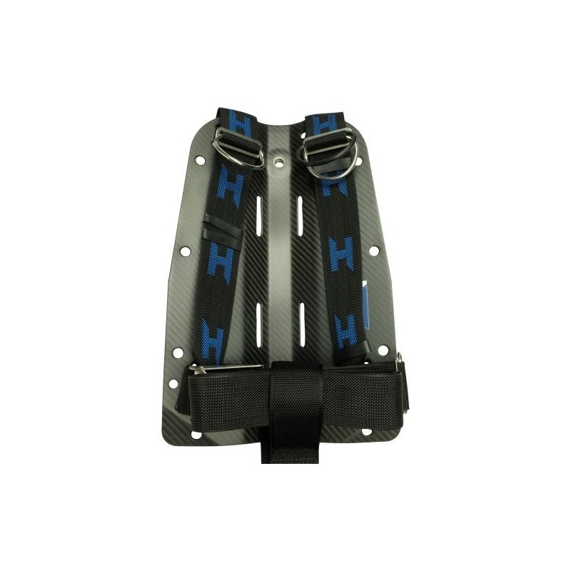CF backplate with complete Secure Harness and Aluminum Hardware