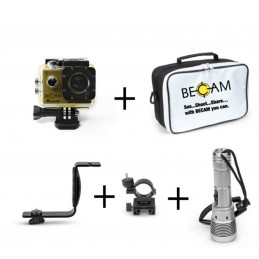 KIT BECAM ACTION CAMERA 4K 50 M (TORCIA BELLATRIX+SNODO FO090+STAFFA VD581+CAMERA CASE)