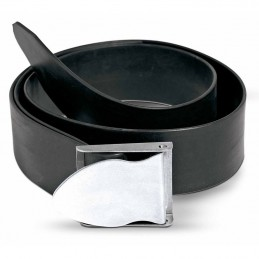 RUBBER WEIGHT BELT BLACK WITH STAINLESS STEEL BUCKLE BESTDIVERS