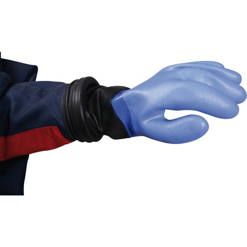 NORDIC BLUE RING SYSTEM COMPLETE SET GLOVES, INNER LINING, RINGS, LATEX SLEEVE COLLAR WITH ROLLED EDGE, O-RINGS