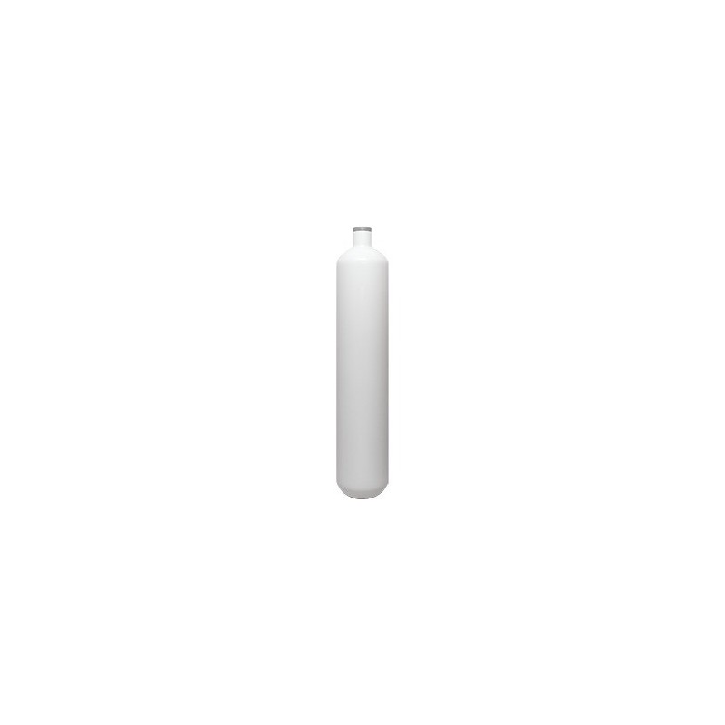 STEEL TANK 1 LT 232 BAR EUROCYLINDER WHITE 82,5 MM