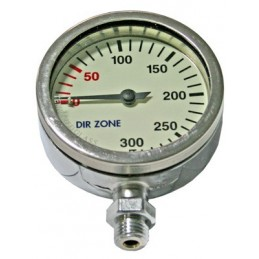 DIR ZONE SPG 63 mm 0-300 Bar, Chrome, Tempered Glass