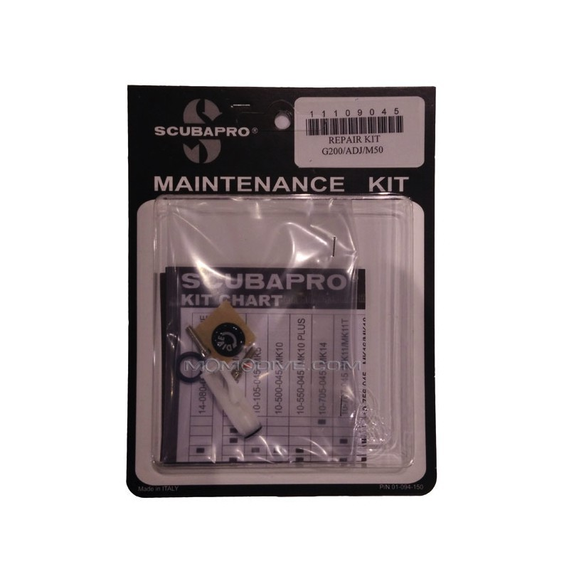 SCUBAPRO SECOND STAGE ANNUAL SERVICE KIT FOR G200 ADJ M50