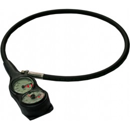DIR ZONE SPG 52 MM BLACK 0-300 BAR PVD TREATMENT PRESSURE GAUGE DIR STYLE 300 BAR