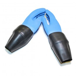 NORDIC BLUE DRY GLOVES WITH LATEX CONICAL WRIST SEAL AND LOOSE INNER LINER