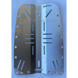STAINLESS STEEL BACKPLATE NECKED 3 MM